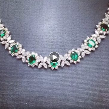 An Exquisite Emerald and Diamond Necklace