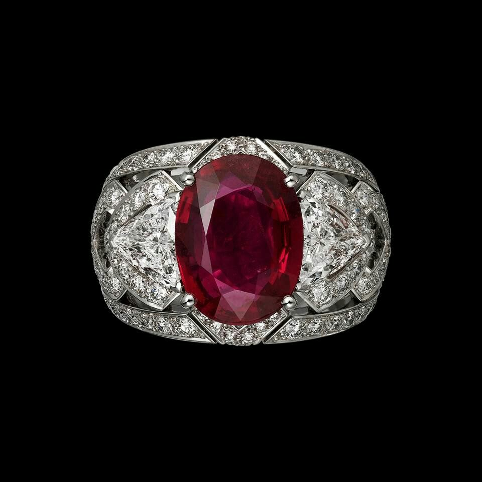 Ruby and Diamond Ring by Cartier