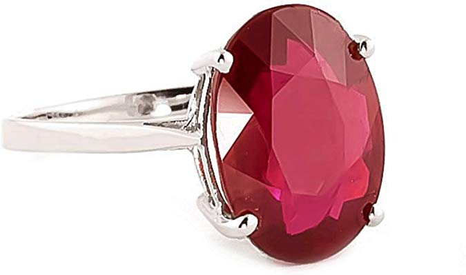 8.18 Carat 14k Solid Yellow Gold Ring with Oval-shaped Brilliant Vibrant Ruby and Genuine Natural Diamonds