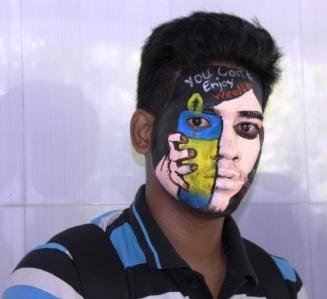 Why students Painted their faces at Xavier's
