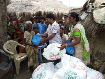 Small trader's big donation for flood affected
