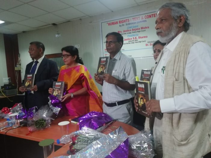 Human Rights: Text and Context , released at AN Sinha Institute