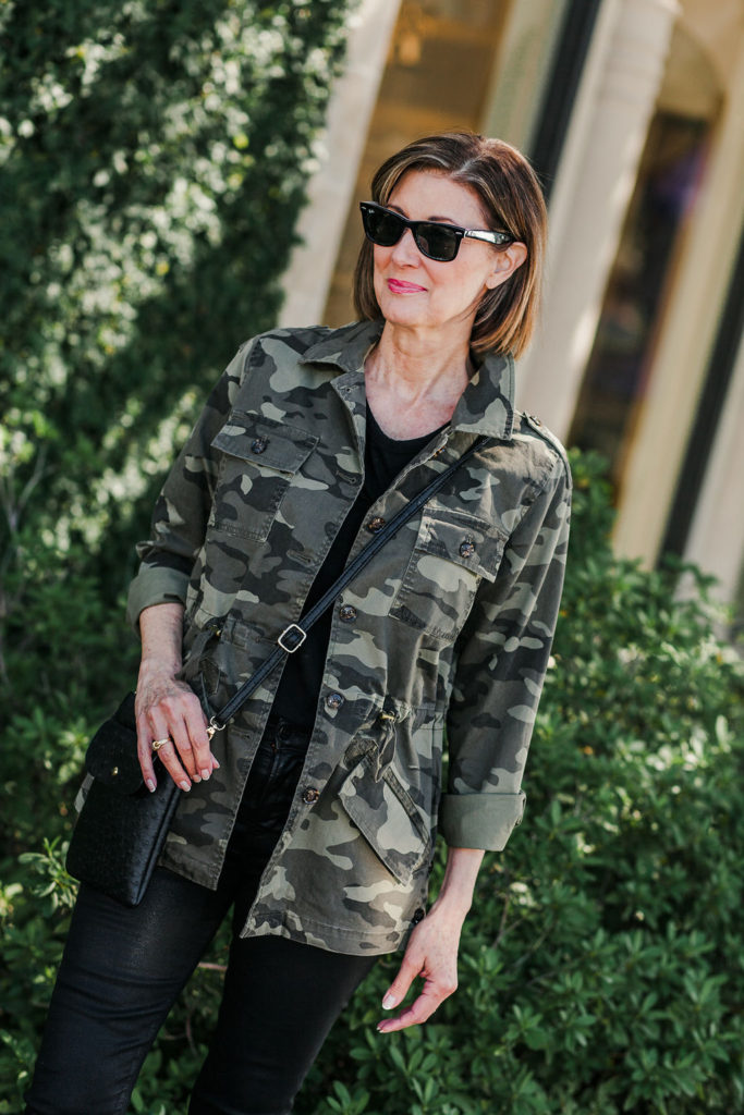 Over 50 blogger in camo-print-for-women