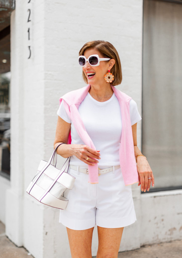Pink sweater from J.McLaughlin