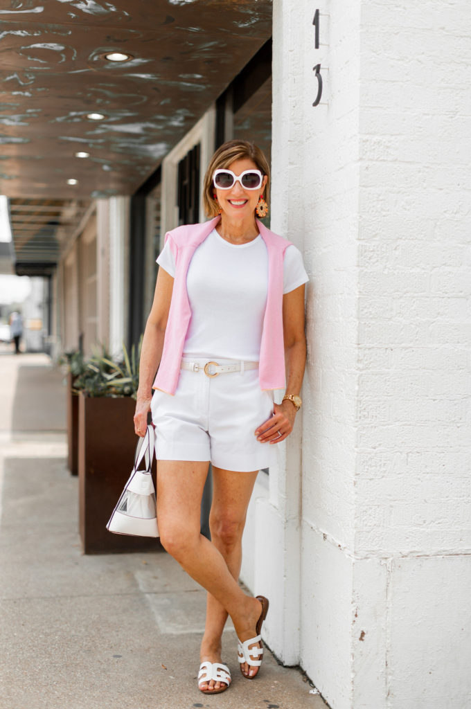 shopping my closet - summer whites for August heat