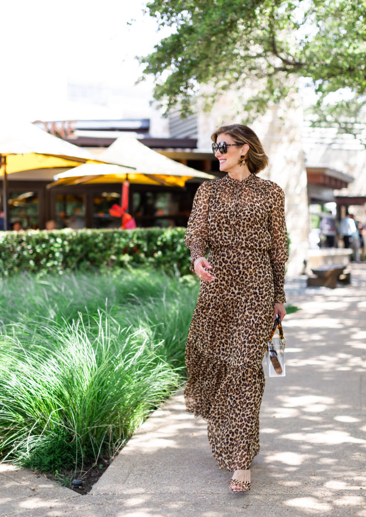 leopard print mixed with tortoise shades and earrings