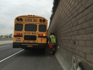 SCHOOL BUS HIT ON 91 FREEWAY – The Orange County Independent
