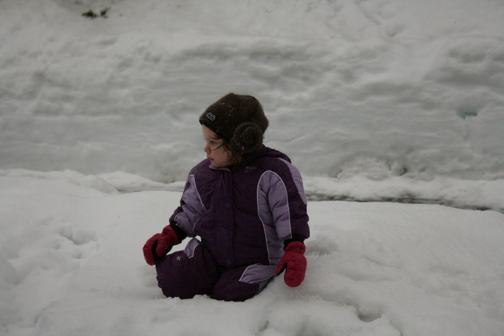 A cute snow toddler -A sweet adventure