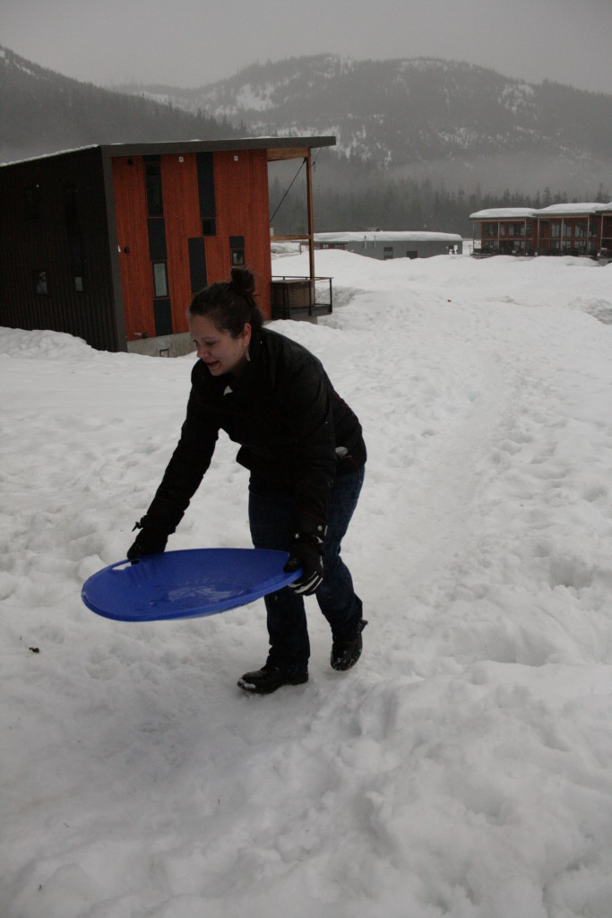 Lauren sledding -A sweet adventure