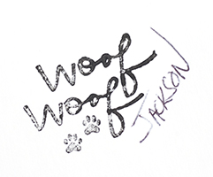 Woof signature JW smaller