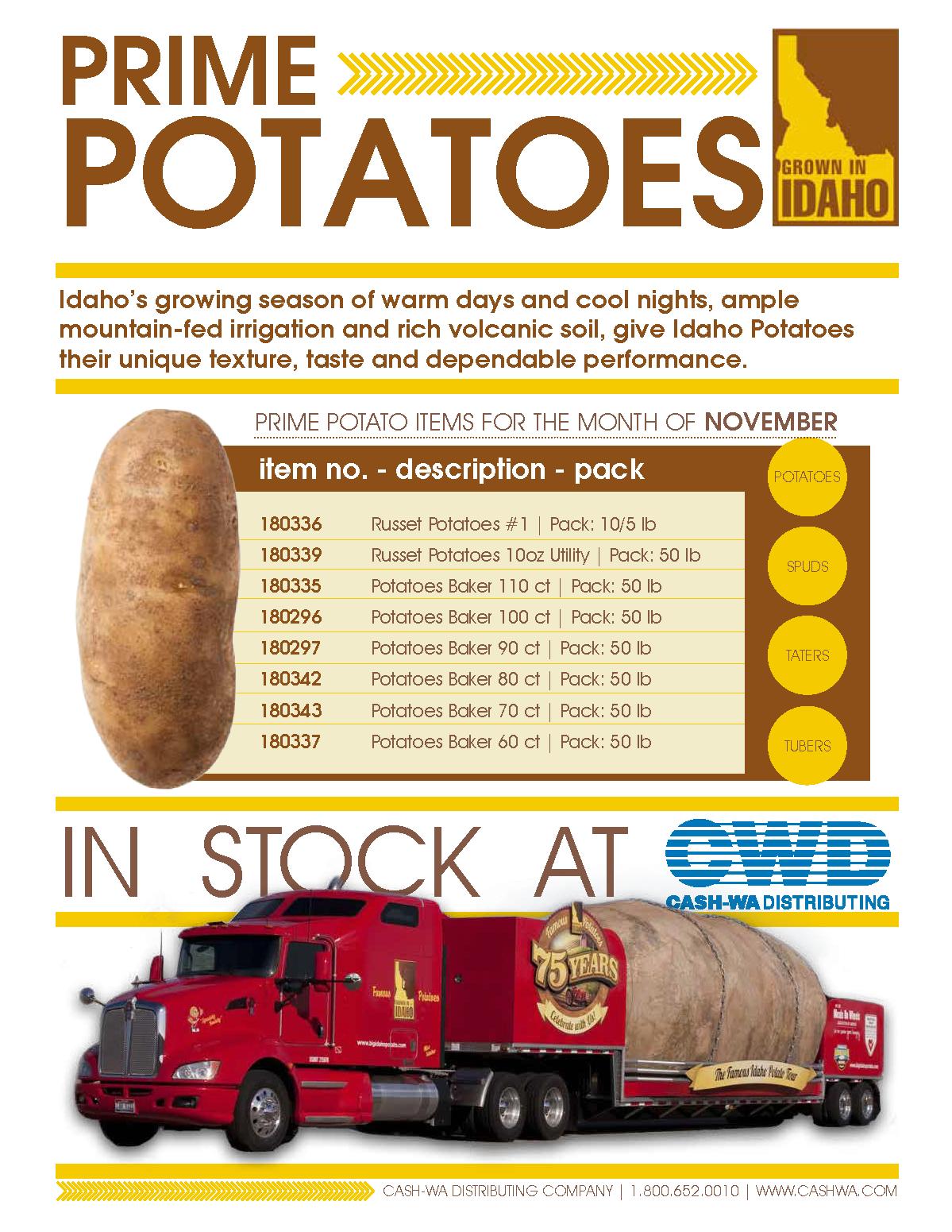 November Potato Flyer