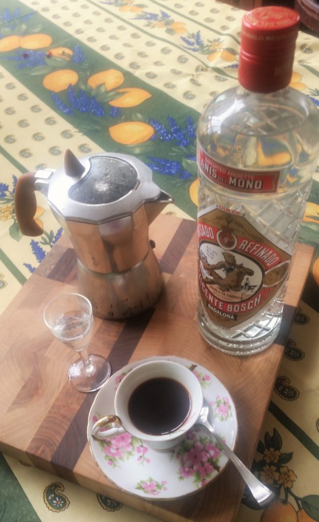 anisette and coffee