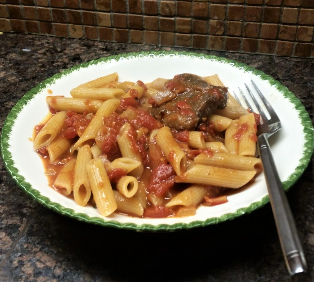 Short Ribs and Diced Tomato Sauce