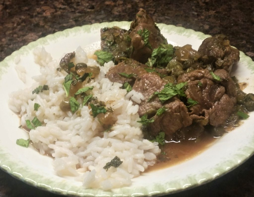 Lamb with Capers and Mint