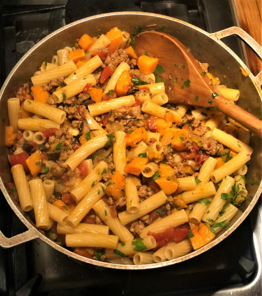 Sausage and Winter Squash Ragu