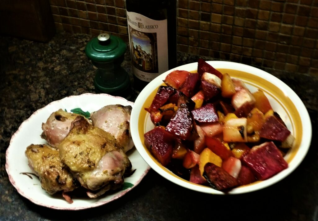 Pan Roast Chicken and Vegetables
