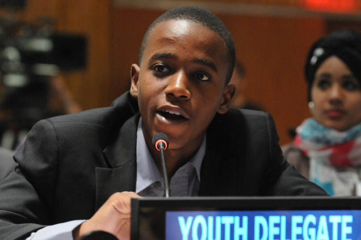 Youth delegate at the UN on Malala Day.