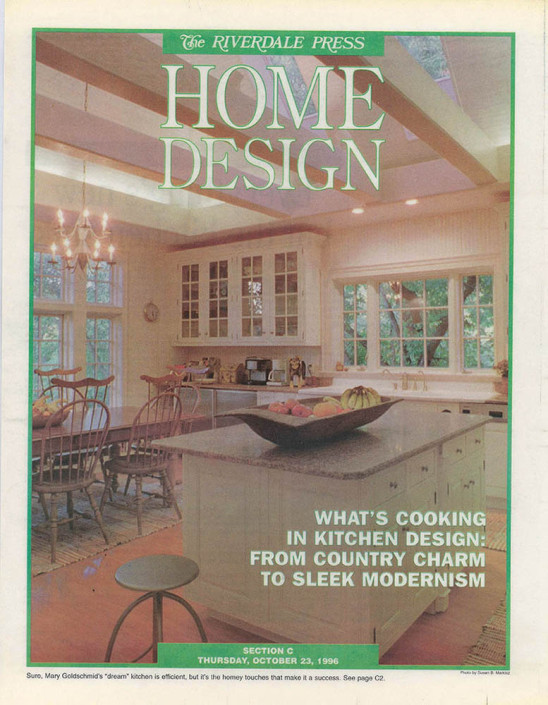 Riverdale Press Cover photo of a new kitchen for special section