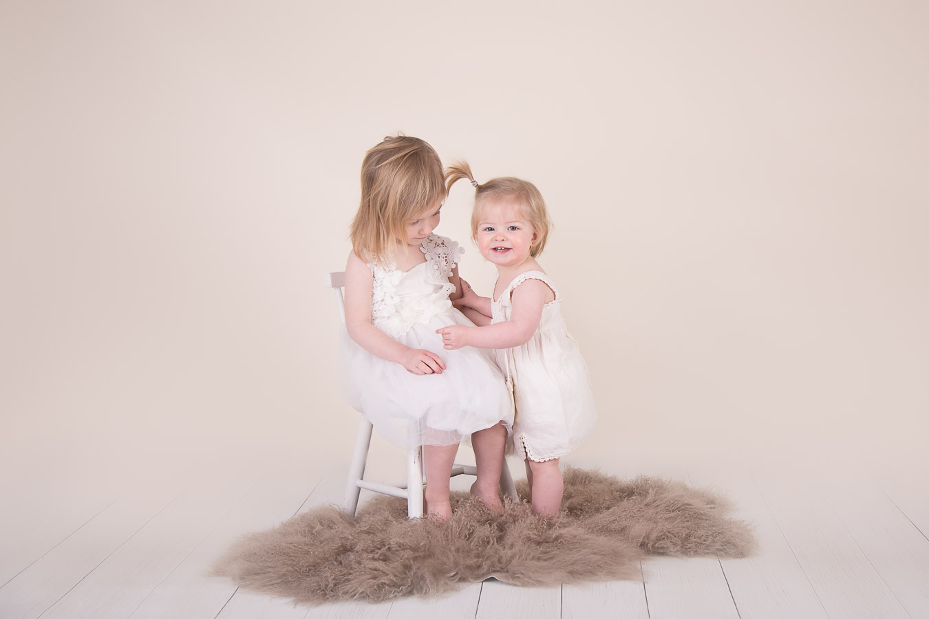 Image of 2 sisters from classic children session from Halifax Family Photographer