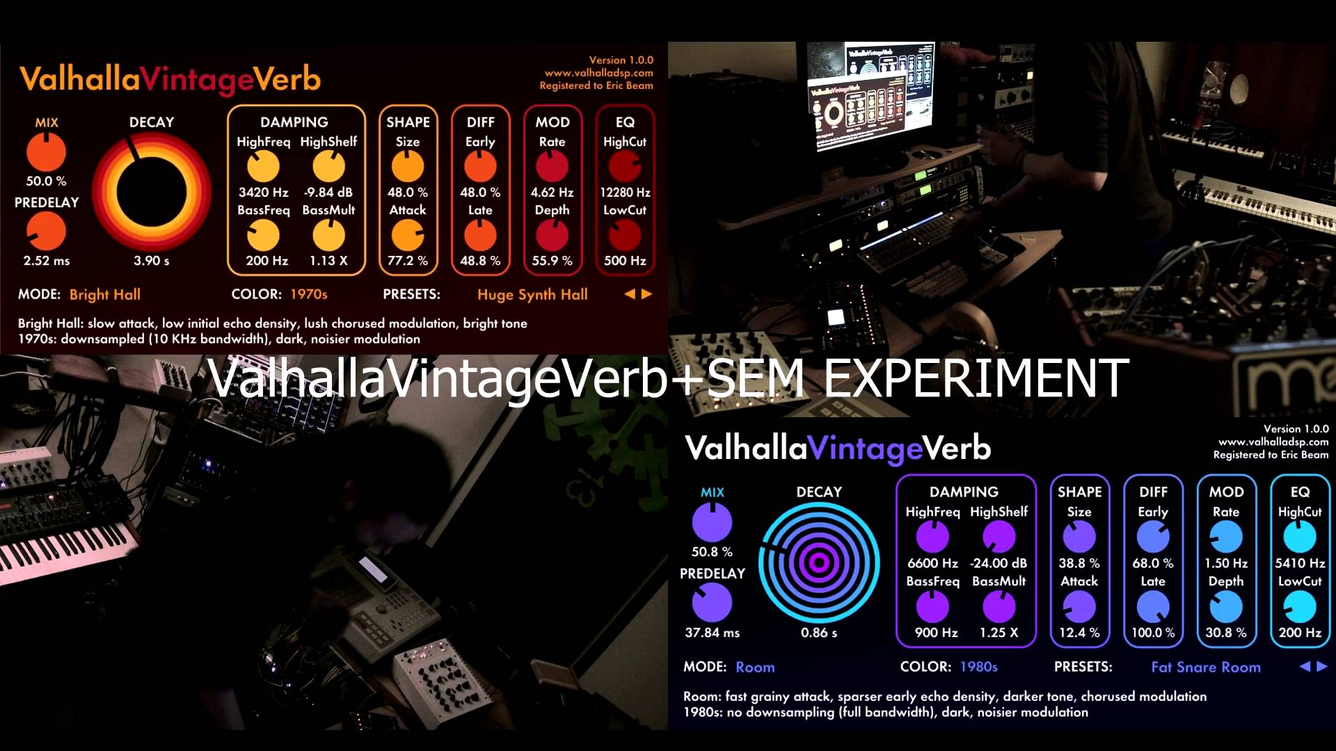 16 Step – ValhallaVintageVerb + Synths – Experiment