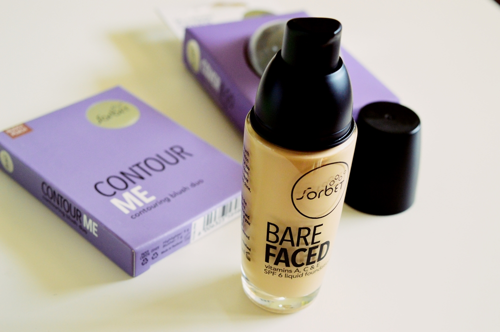 SORBET MAKEUP: Bare Faced Foundation, Contour Me Duo and Cover & Go Foundation Blender {REVIEW}