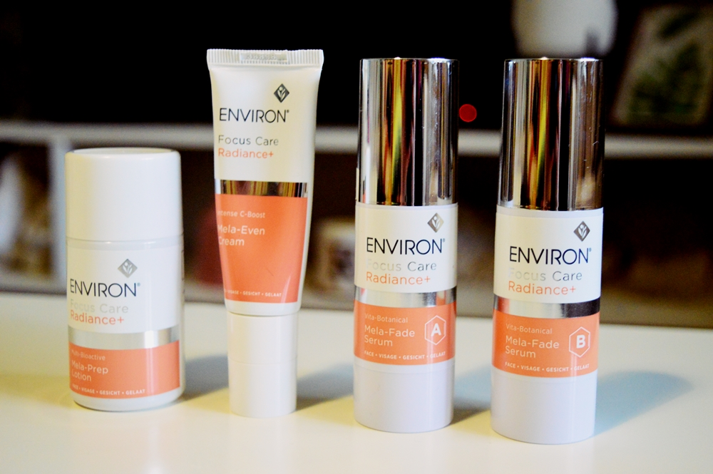 PIGMENTATION: Target treating with Environ's Radiance+ Range {REVIEW}