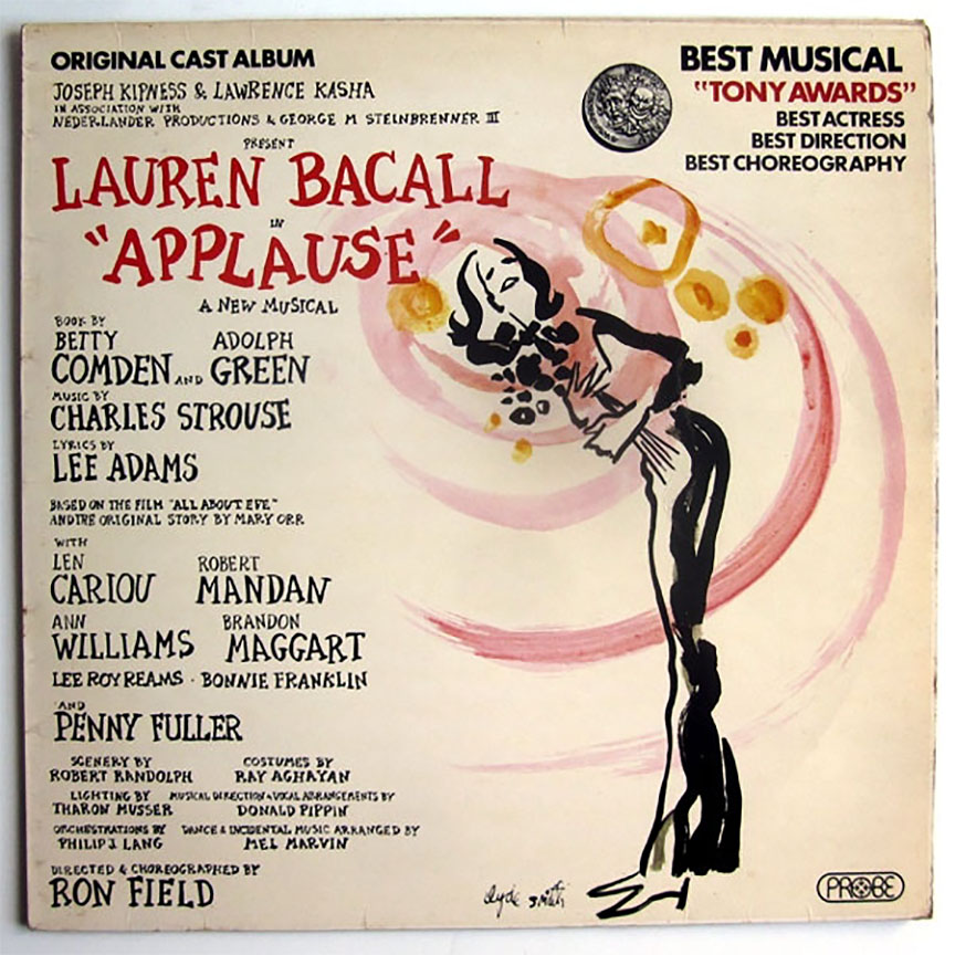 Lauren Bacall's Broadway debut, now on CD for the first time! Available again after a 20-year-plus absence, this Tony Award-winning 1970 hit is a song-filled adaptation of the Hollywood classic All About Eve ;