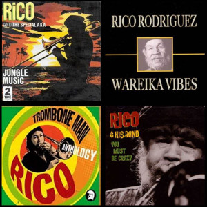 Montage credits : Jungle MusicRico & The Special AKA -Two-ToneRecords 1977 ; Sleeve Art 'Wareika Vibes' - Jamdown Records 2006; Trombone Man Anthology, Trojan Records; Sleeve art 'You Must Be Crazy' - Grover Records 1995