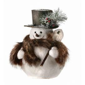Snowman+with+Fur+Scarf