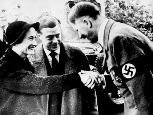 Edward and Mrs Simpson with Hitler