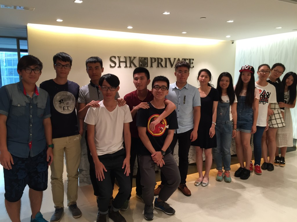 Group photo of the visiting students taken at the reception area of SHK Private