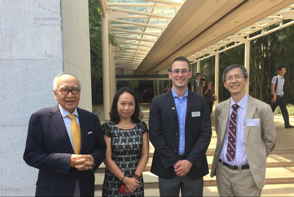 From left: Dr. Wong, Dr. Pansy Gan, Mr. Garett White and Jimmy Ho on BNUZ campus
