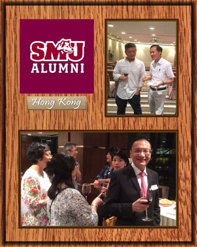 Eric Mok (top left), Sammy Ho (top right), Alice Shek (bottom leftmost) and William Lau (bottom rightmost) are some of the active participants in the alumni gatherings.
