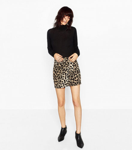 zara-animal-print-mini-skirt