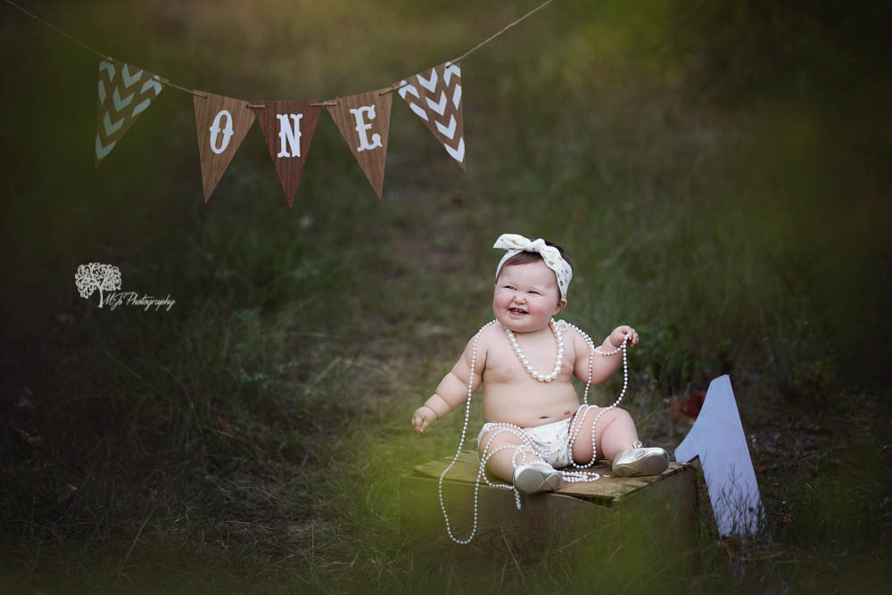 Longview first birthday photographe