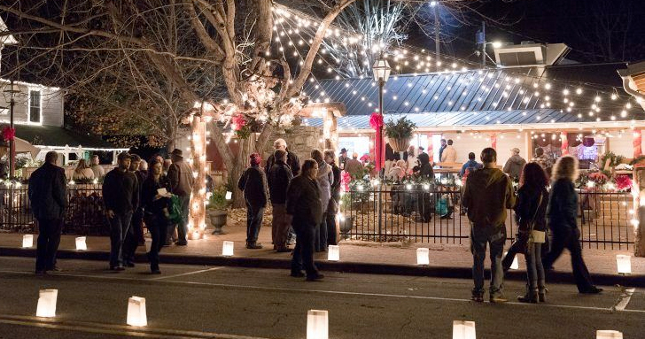 candles and shop at the dillsboro lights and luminaries festibal