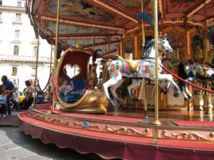 Carousel rides in Florence