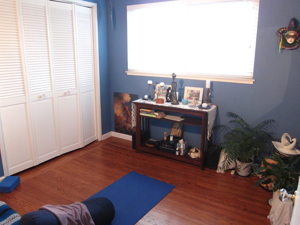 My new nest: a yoga and meditation room