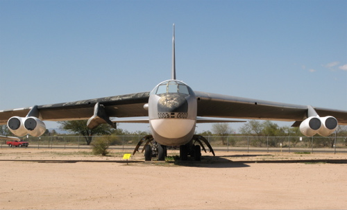 b-52 at the pima air & space museum, close-up