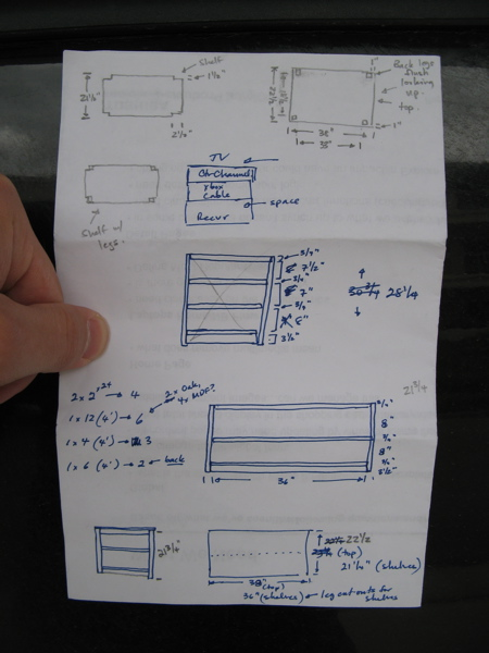 TV Stand Plans and Schematic
