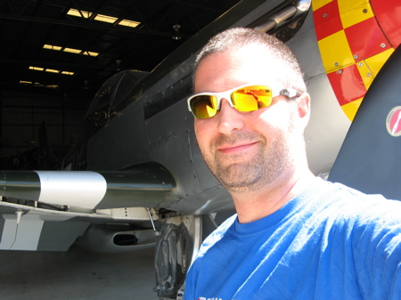 bkdunn and a P-51 Mustang in Chino