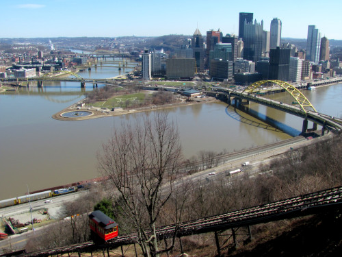 Downtown Pittsburgh from Mt. Washington and the top of the Duquesne Incline