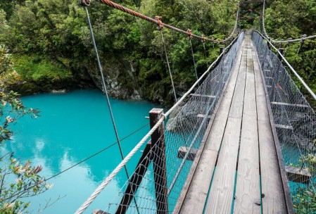 Hokitika Gorge (, bridge over).
