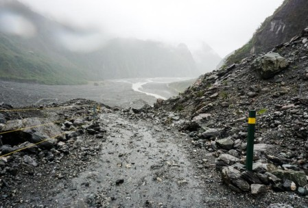 Route back from Fox Glacier.