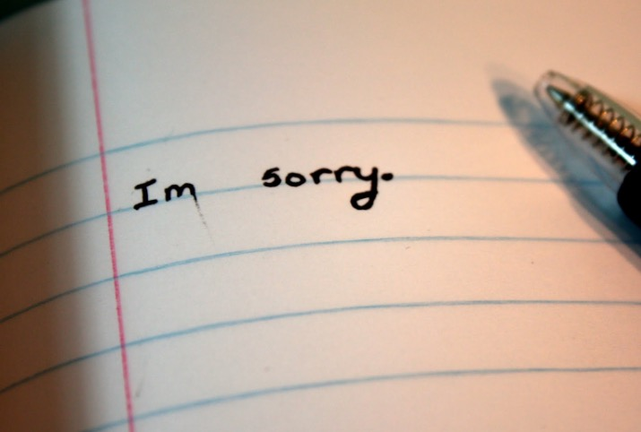 Grudges and the ability to say Sorry.