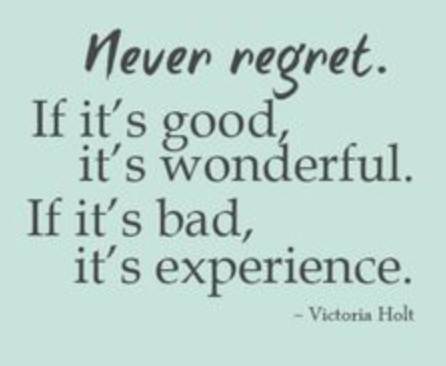 Regrets or Life Experiences?