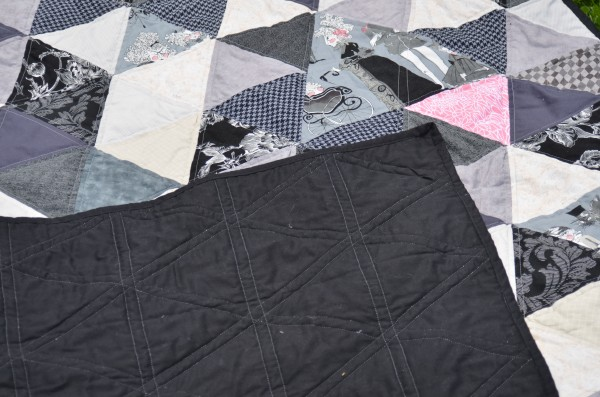 triangle quilting with backing