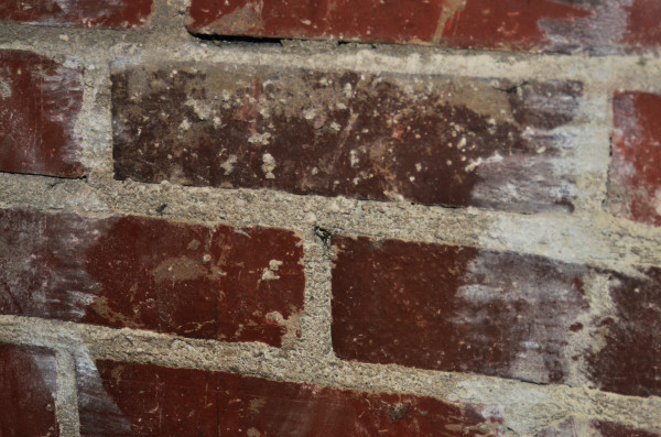 exposed brick in the old theatre