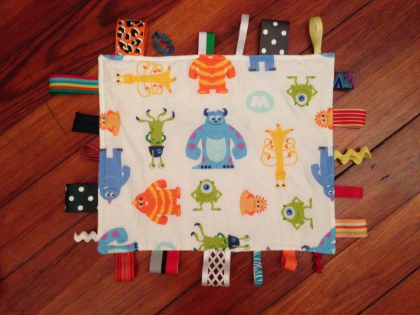 Monster taggie blanket