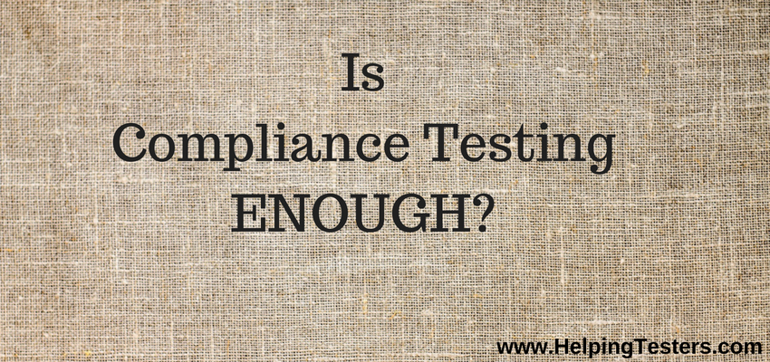Compliance, Compliance testing in Web security, Compliance in web security, is compliance sufficient in web security